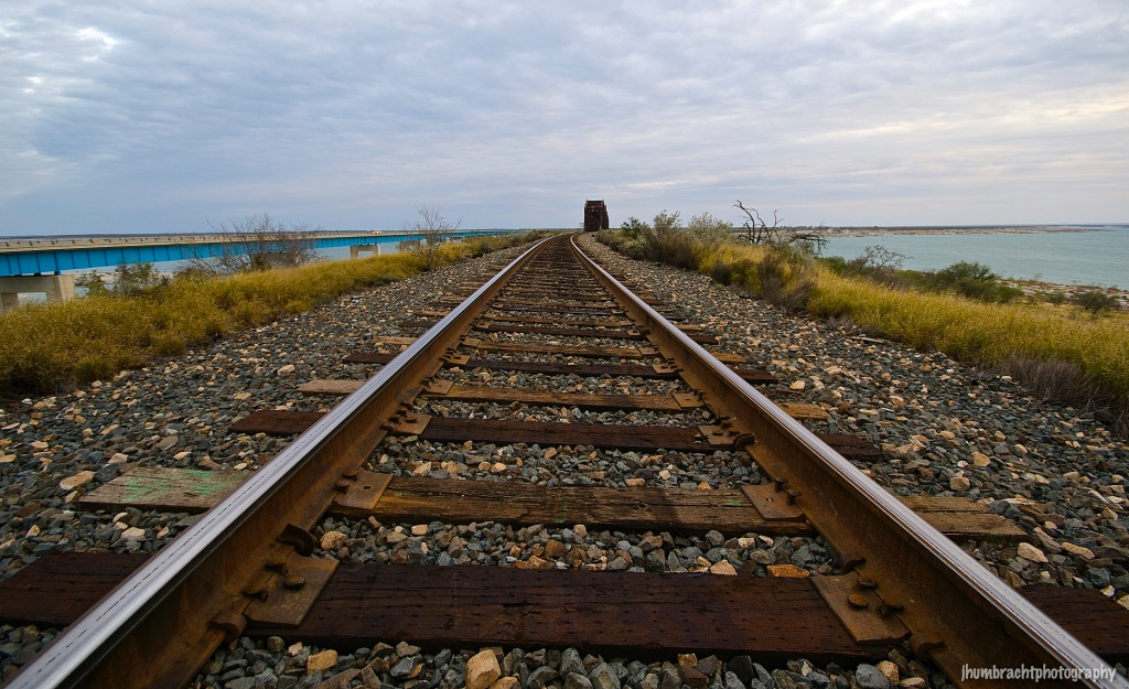Amistad Reservoir | Railroad Tracks | Del Rio, Texas | Image By Indianapolis-based Architectural Photographer Jason Humbracht