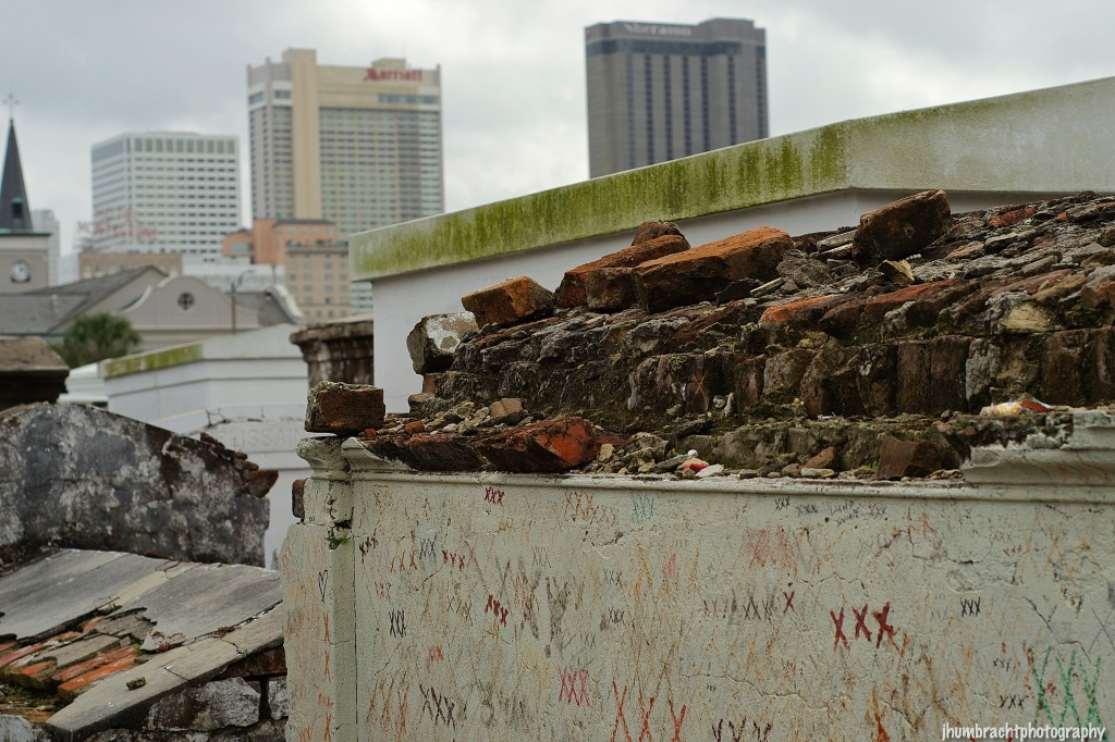 Fake Tomb Marked by the XXX | Saint Louis Cemetery Number One | New Orleans, Louisiana | Photo taken by Indianapolis-based Architectural Photographer Jason Humbracht
