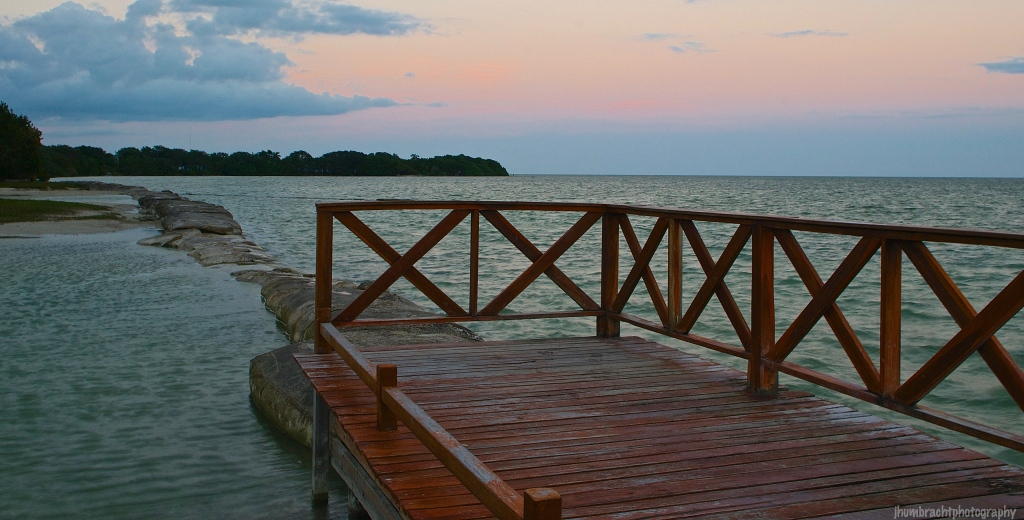 Sitting on the Dock | Sunset | Chetumal Mexico | Image By Indiana Architectural Photographer Jason Humbracht