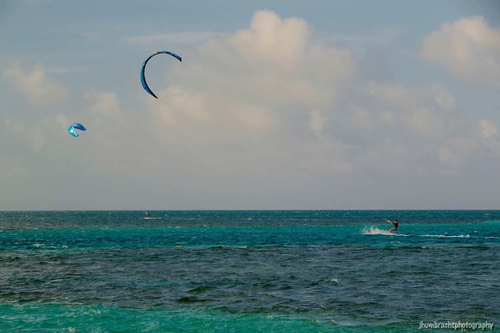 Kite Surfing | Caye Caulker Belize | Image By Indianapolis-based Architectural Photographer Jason Humbracht in 2015
