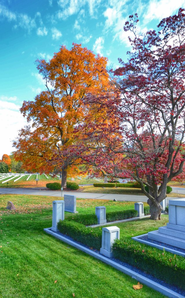 Crown Hill Cemetery | Autumn | Indianapolis Indiana | Photo taken by Indiana Architectural Photographer Jason Humbracht