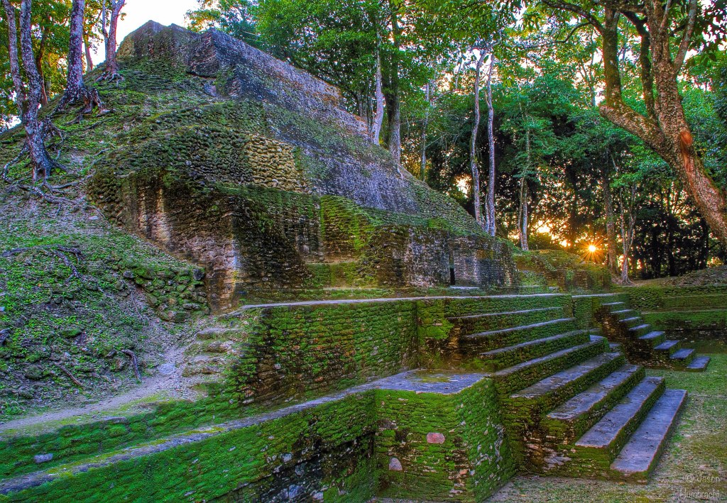 Cahal Pech Maya Site | Sunset | San Ignacio Belize | Photo taken by Indianapolis-based Real Estate Photographer Jason Humbracht in 2015