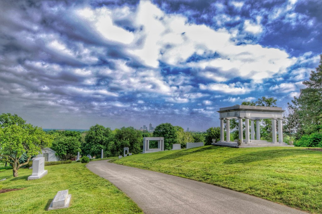 Crown Hill Cemetery | Indianapolis Indiana | Indianapolis Skyline | Photo taken by Indiana Architectural Photographer Jason Humbracht