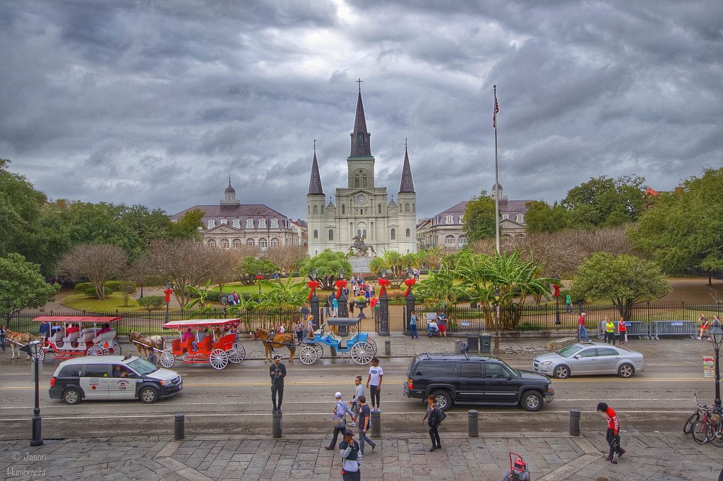 Jackson Square | New Orleans Louisiana | photo taken by Indianapolis-based Architecture Photographer Jason Humbracht in 2015