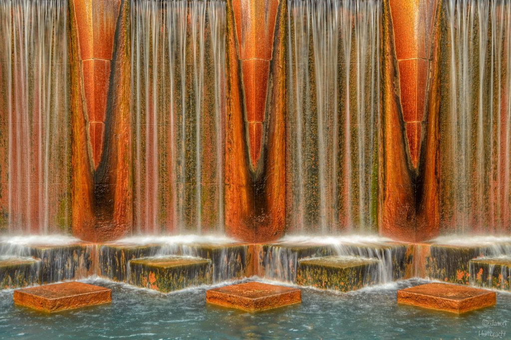Canal waterfall | Downtown Indianapolis | photo taken by Indianapolis photographer Jason Humbracht in 2015