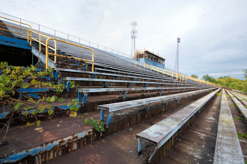 Abandoned Gilroy Stadium in Gary Indiana | Image By Indianapolis Architectural Travel Photographer Jason Humbracht