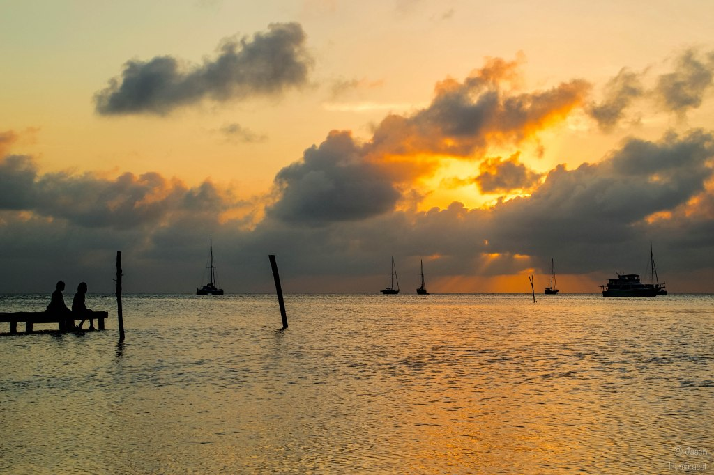 Sunset in Caye Caulker, Belize | Photo taken by Indiana Architectural Photographer Jason Humbracht in 2015