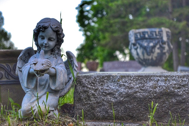 Highland Park Cemetery in Ionia Michigan photo taken by Ionia native Jason Humbracht in 2014