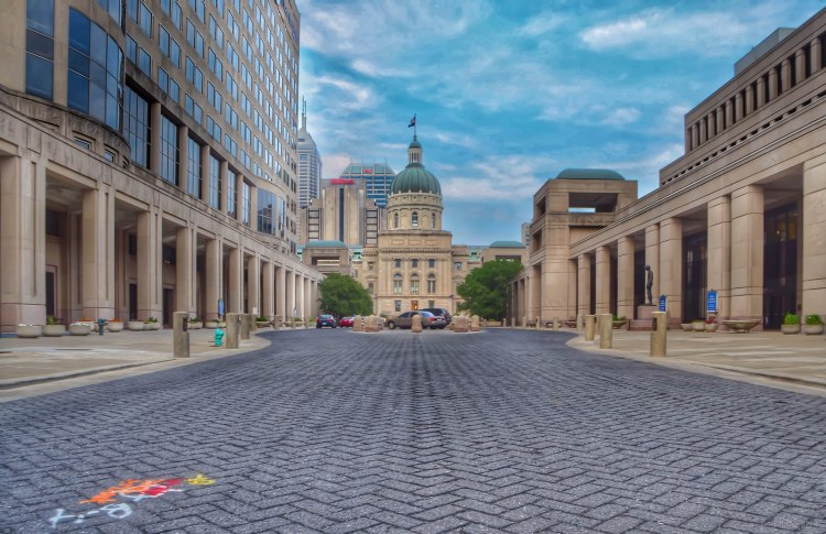 Indiana State Capital photo taken by Indianapolis-based Architectural Travel Photographer Jason Humbracht in 2015