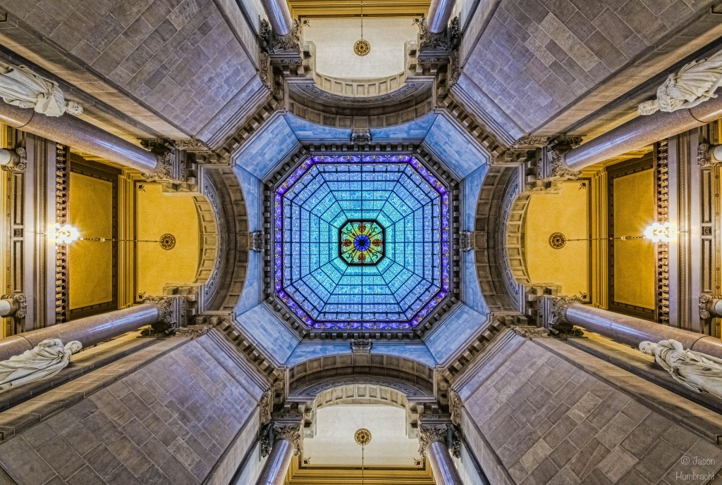 Indiana State Capital | Indiana State Capital Rotunda | Indiana Architecture | Photo taken by Indianapolis-based Architectural Photographer Jason Humbracht in 2015