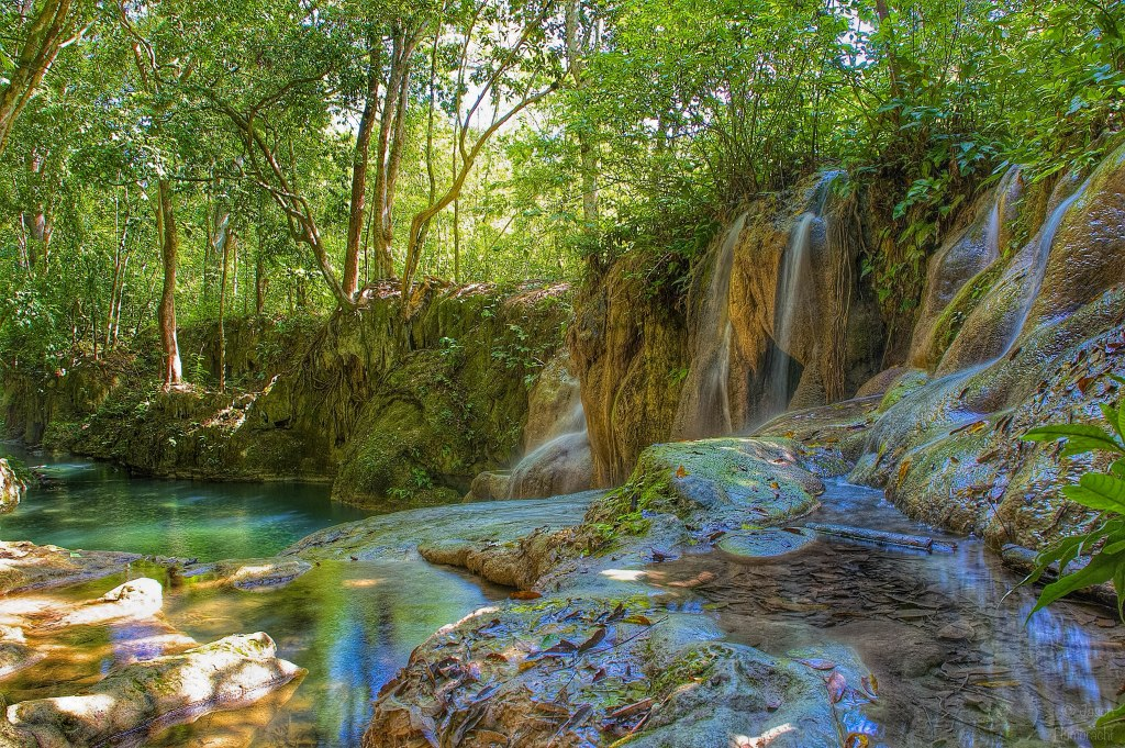 Shower Falls | Waterfall | Cristo Rey Village | Belize | photo taken by Indiana Commercial Real Estate Photographer Jason Humbracht in 2015