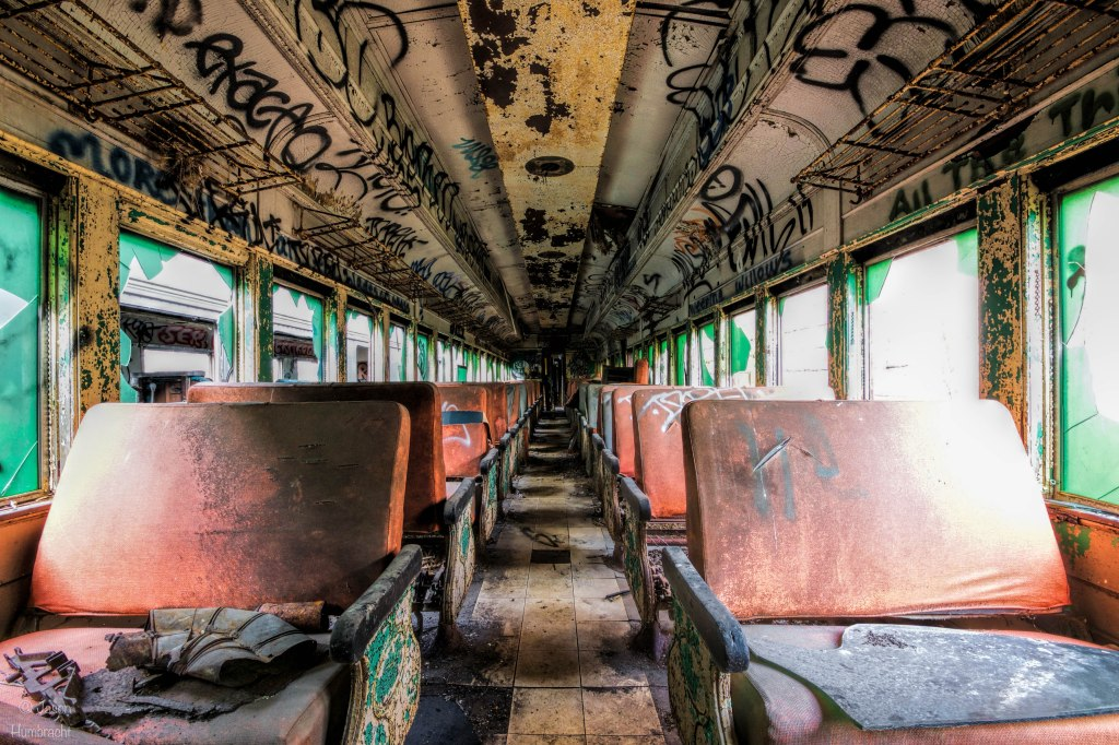 Abandoned Passenger Train | Urbex | Urban Decay | Cicero Indiana | Image By Indianapolis-based Architectural Photographer Jason Humbracht in 2015