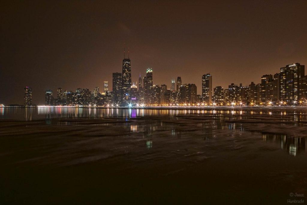 Chicago Skyline At Night | Chicago Architecture | Chicago At Night | Image By Indiana Architectural Photographer Jason Humbracht