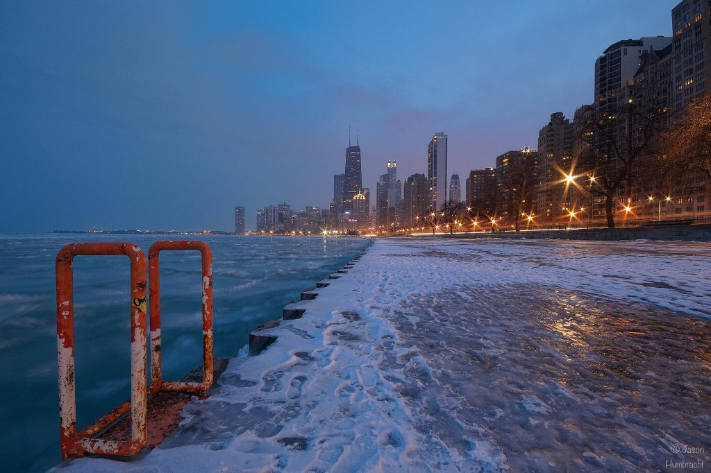 Chicago Skyline At Sunset | Chicago Architecture | Chicago At Night | Image By Indiana Architectural Photographer Jason Humbracht