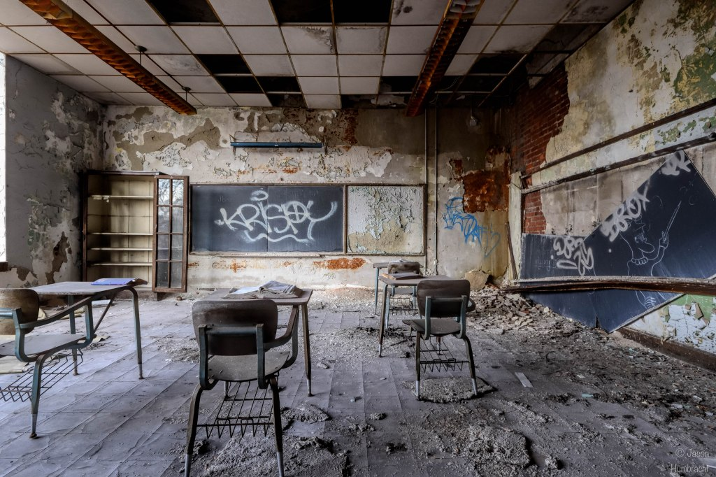 Abandoned Ralph Waldo Emerson School | Urbex Photography | Gary Indiana | Image By Indiana Architectural Photographer Jason Humbracht