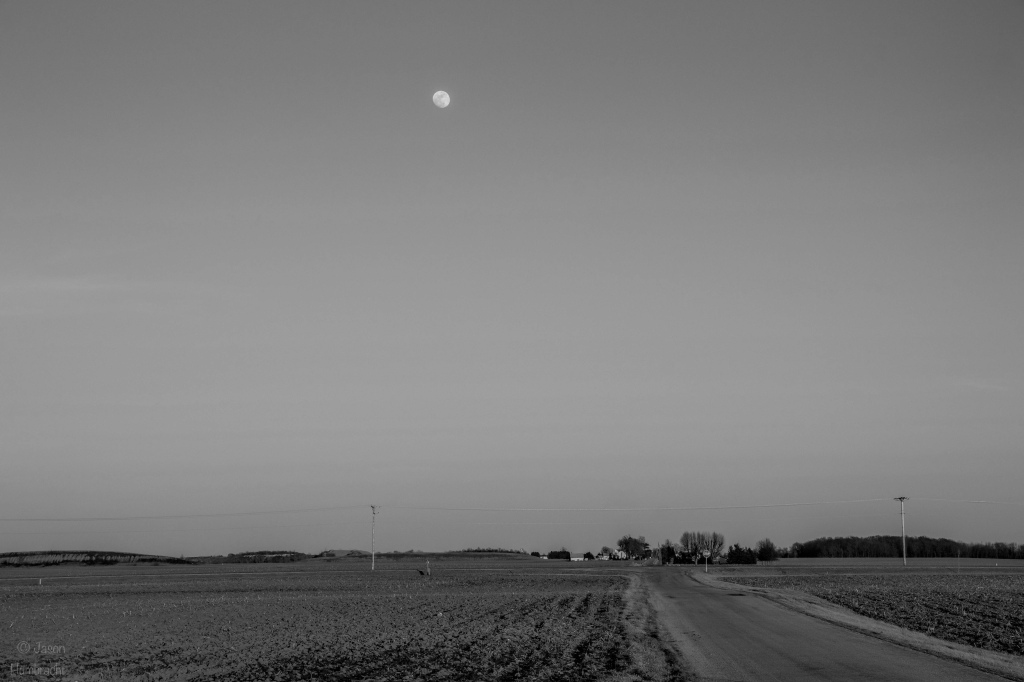 Moon | Photography | Countryside | Image by Indiana Architectural Photographer Jason Humbracht in 2016