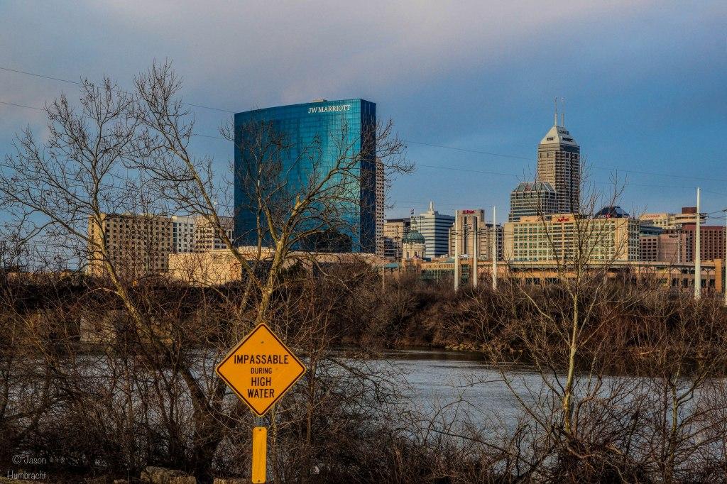 Indianapolis Skyline | White River | Indiana Architecture | Downtown Indianapolis | Image By Indiana Architectural Photographer Jason Humbracht