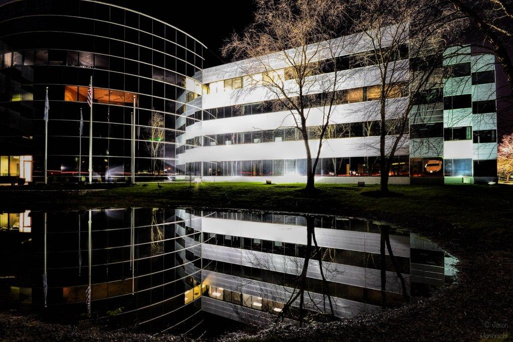 Indianapolis at Night | Indiana Architecture | Carmel Indiana | Image By Indiana Architectural Photographer Jason Humbracht