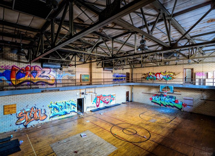 Abandoned Lew Wallace High School | Urbex Photography | Gary Indiana | Image by Indiana Architectural Photographer Jason Humbracht