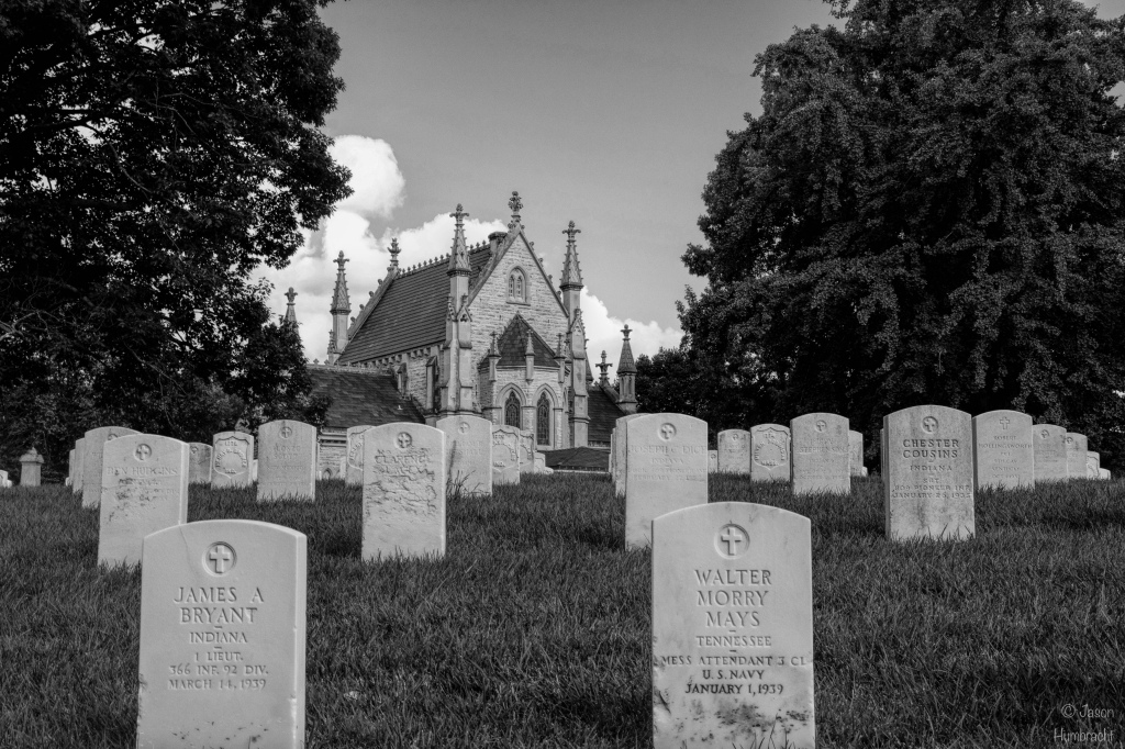 Crown Hill Cemetery | Indianapolis Indiana | Black & White | Image By Indiana Architectural Photographer Jason Humbracht