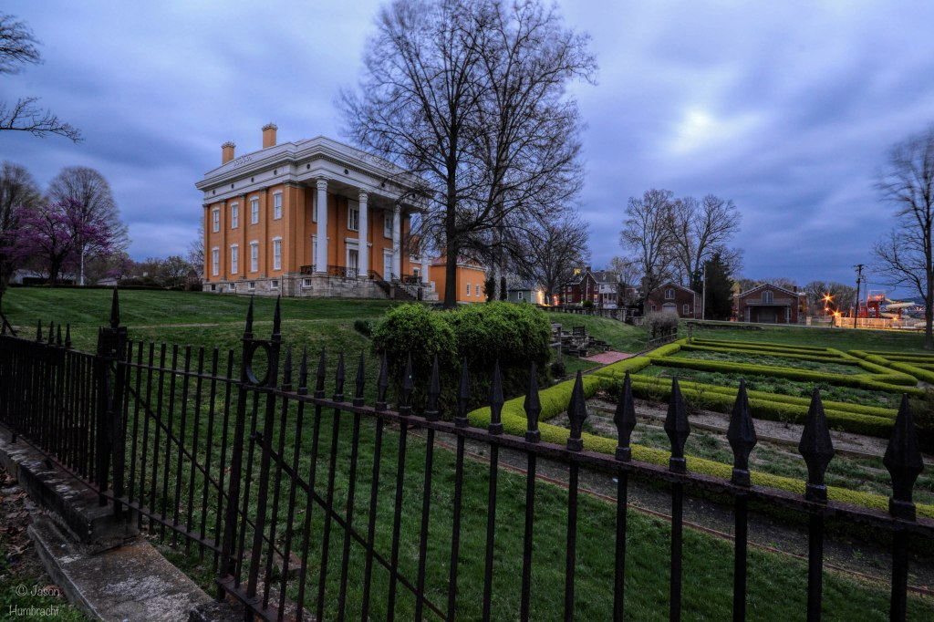 Lanier Mansion at Night | Madison Indiana | Indiana Architecture | Historic Indiana Towns | Image By Indiana Architectural Photographer Jason Humbracht