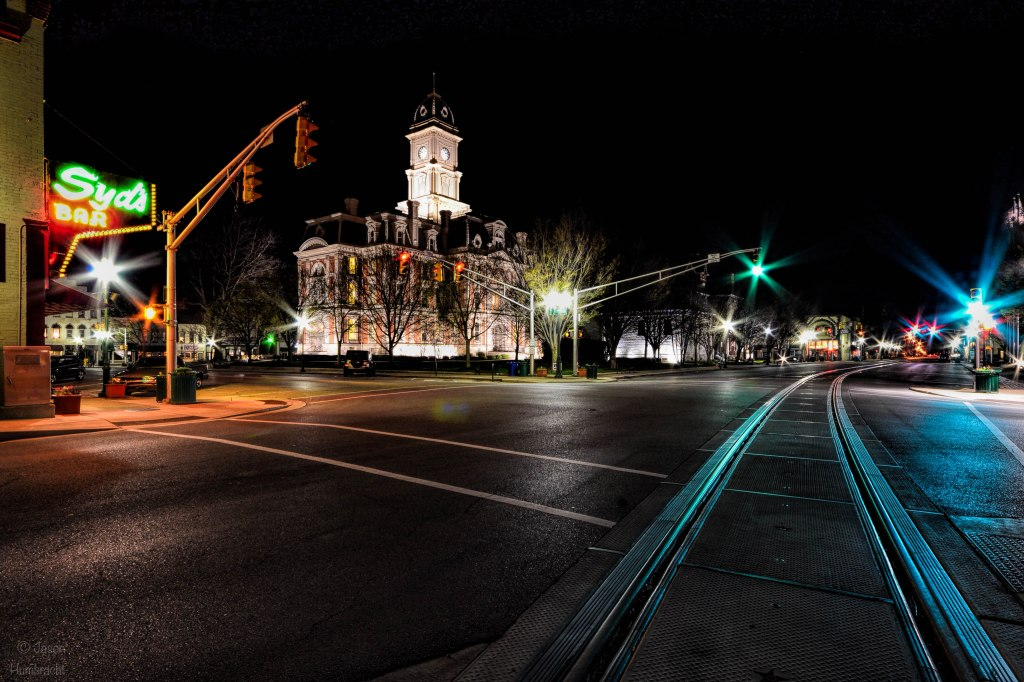Noblesville Indiana | Courthouse Noblesville Indiana | Noblesville At Night | Indiana Architecture | Image By Indiana Architectural Photographer Jason Humbracht