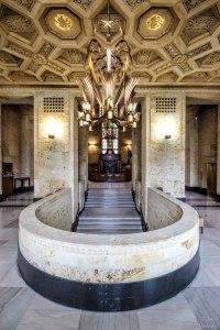 Indiana State Library | Senate Avenue Entrance Foyer | Indiana Architecture | Interior Architecture | Indianapolis, Indiana | Image By Indiana Architectural Photographer Jason Humbracht