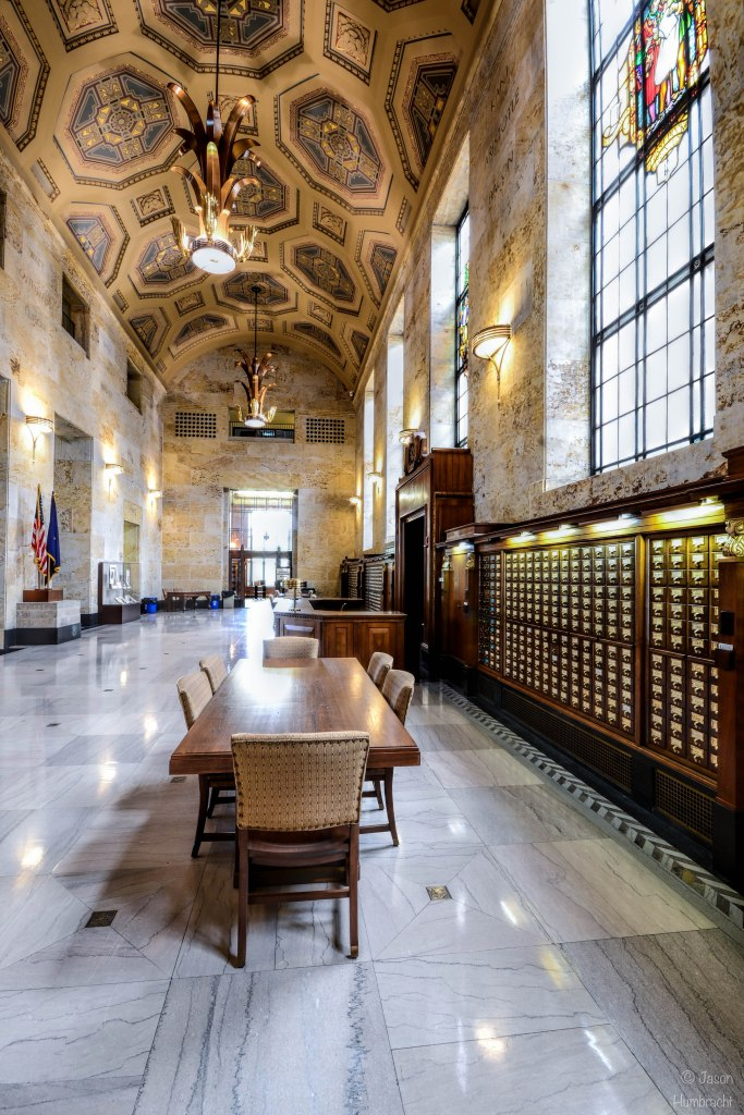 Indiana State Library | The Great Hall | Indiana Architecture | Interior Architecture | Indianapolis, Indiana | Image By Indiana Architectural Photographer Jason Humbracht