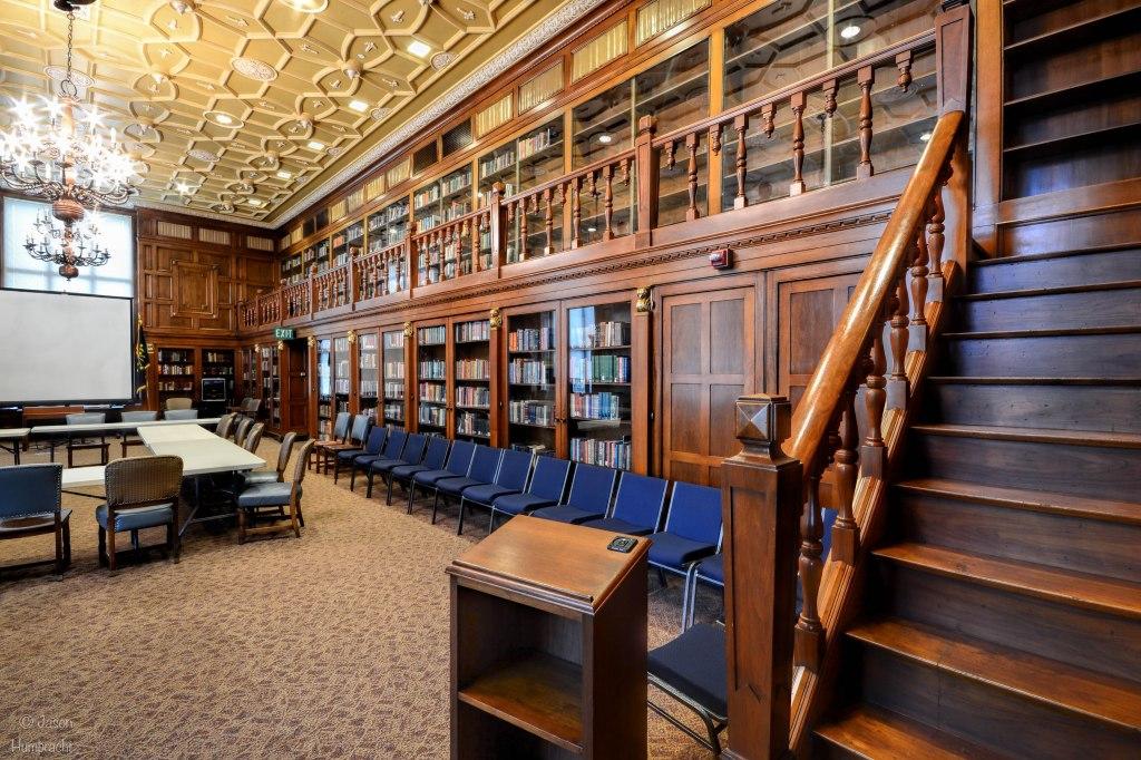 Indiana State Library | Indiana Authors Room | Indiana Architecture | Indianapolis, Indiana | Image By Indiana Architectural Photographer Jason Humbracht
