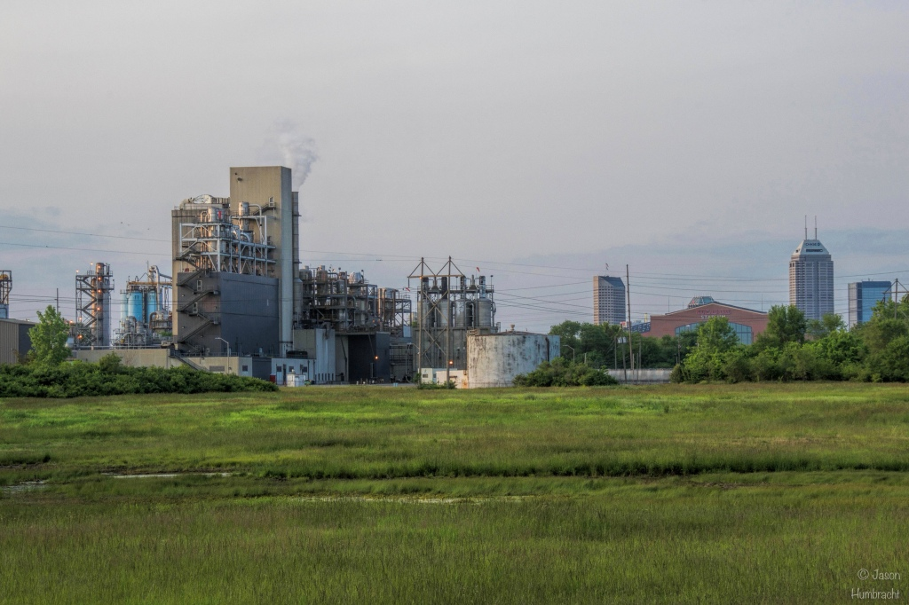 Industrial Scene | Indianapolis Skyline | Image By Indiana Architectural Photographer Jason Humbracht