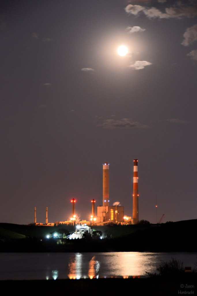 Power Plant Under Full Moon | Indianapolis, Indiana | Image By Indiana Architectural Photographer Jason Humbracht