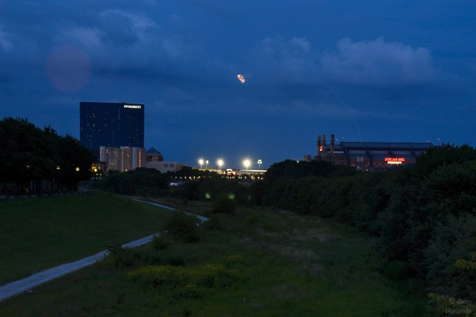 Indianapolis Skyline | Buck Moon | Full Moon | JW Marriott | Image By Indiana Architectural Photographer Jason Humbracht